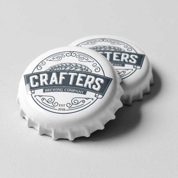 Crafters Beer bottle logo