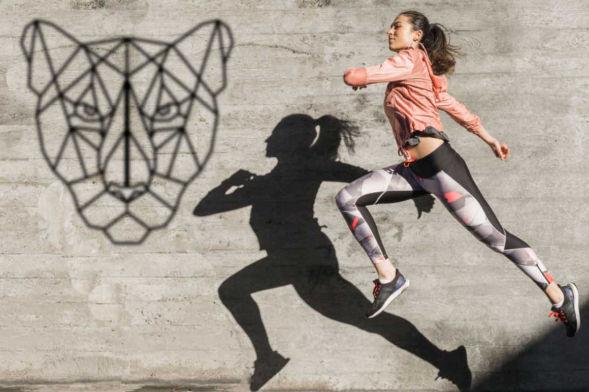 Running Girl Mockup