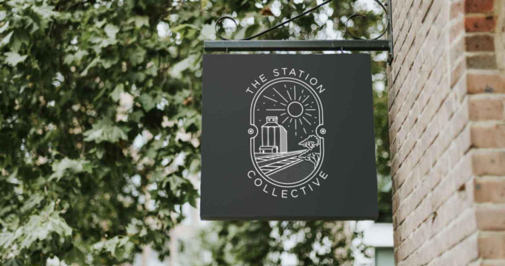 The Station Sign Logo Mockup