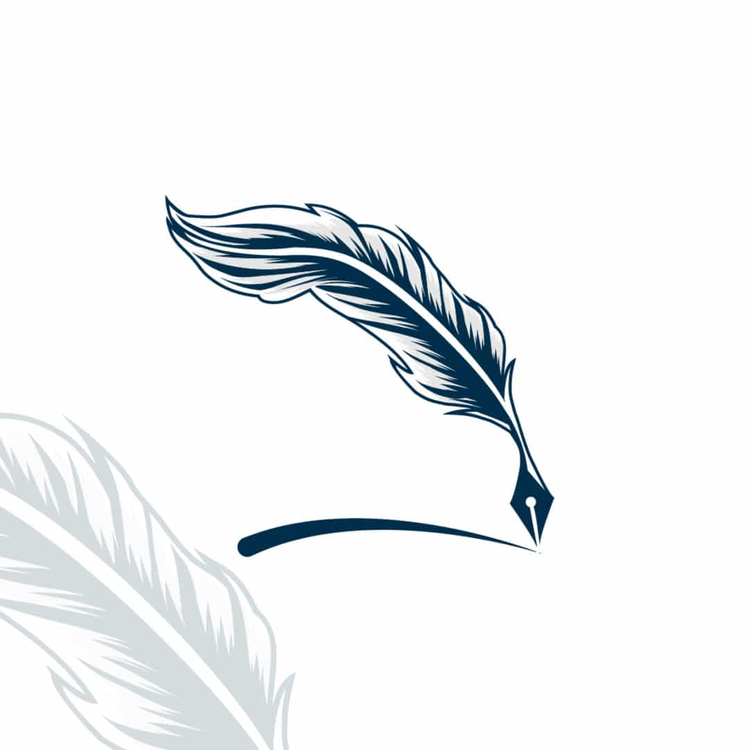 Feather Pencil Logo Design