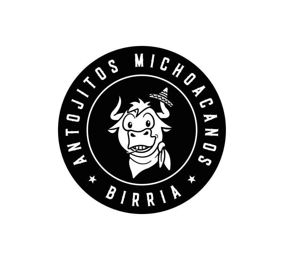 Bull head illustration Logo Black and white