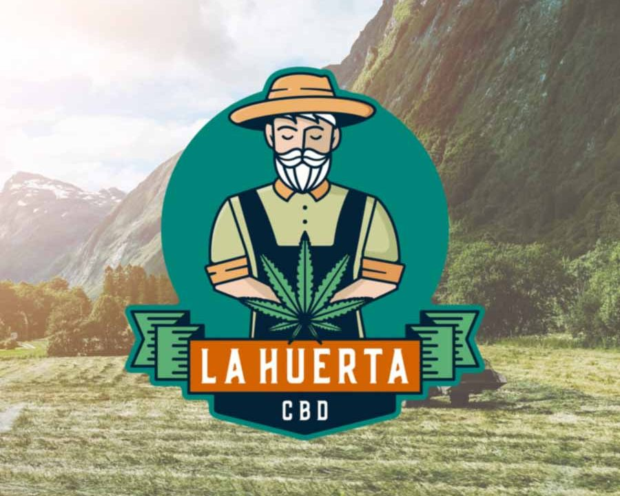 Cannabis Farmer Simple Emblem Design